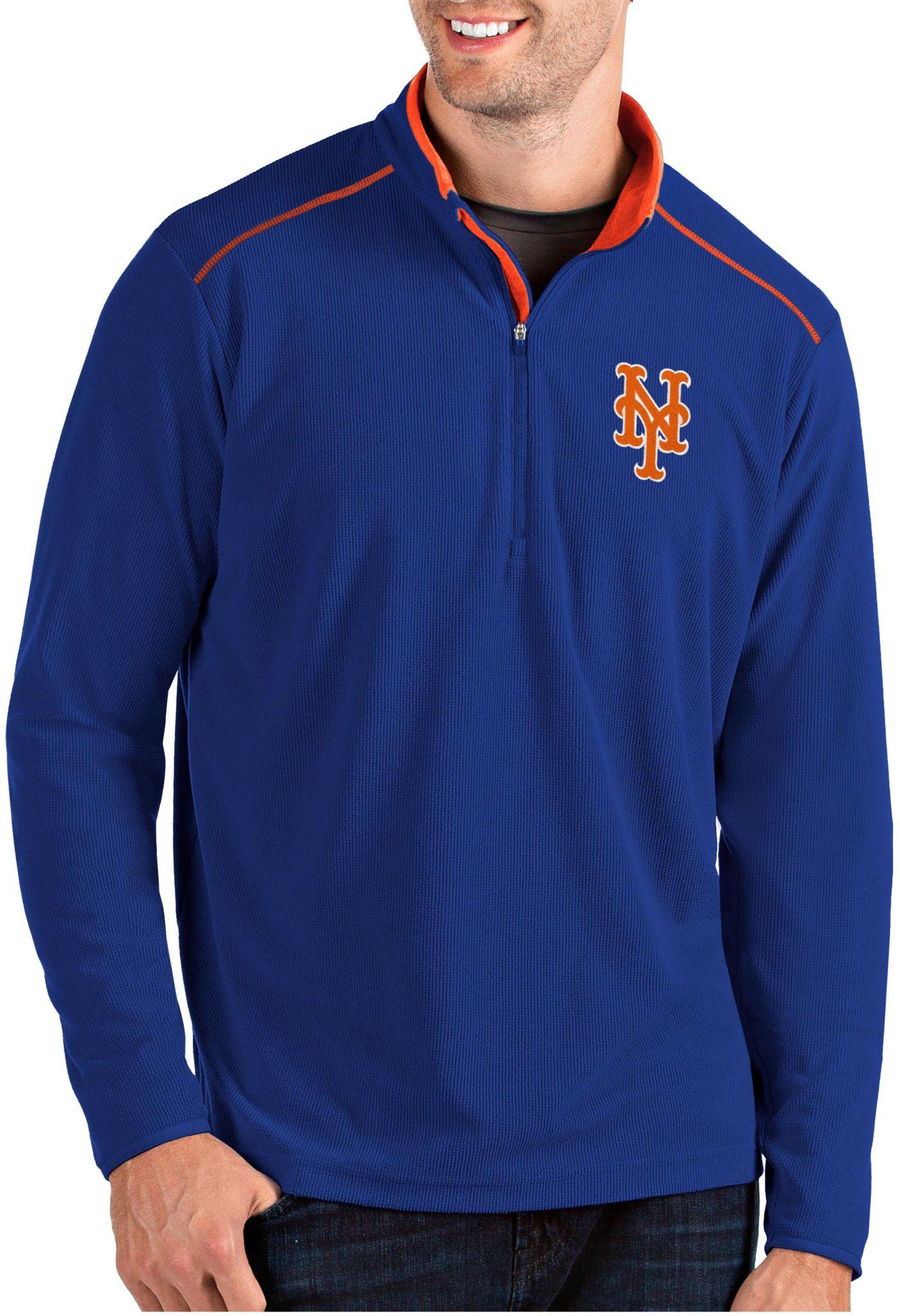 Antigua Men's New York Mets Royal Glacier Quarter-Zip Pullover