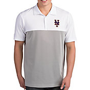 Antigua Men's New York Mets Venture White Performance Polo