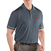 Antigua Men's Cleveland Indians Salute Grey Performance Polo