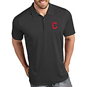 Antigua Men's Cleveland Indians Tribute Grey Performance  Polo