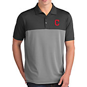 Antigua Men's Cleveland Indians Venture Grey Performance Polo