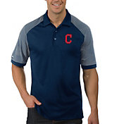Antigua Men's Cleveland Indians Engage Navy Polo
