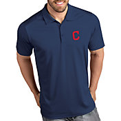Antigua Men's Cleveland Indians Tribute Navy Performance  Polo
