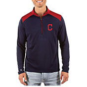 Antigua Men's Cleveland Indians Velocity Quarter-Zip Pullover