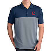Antigua Men's Cleveland Indians Venture Navy Performance Polo