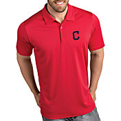Antigua Men's Cleveland Indians Tribute Red Performance  Polo