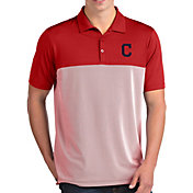Antigua Men's Cleveland Indians Venture Red Performance Polo