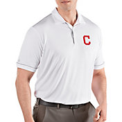 Antigua Men's Cleveland Indians Salute White Performance Polo