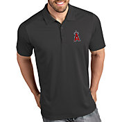 Antigua Men's Los Angeles Angels Tribute Grey Performance  Polo