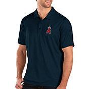 Antigua Men's Los Angeles Angels Navy Balance Polo