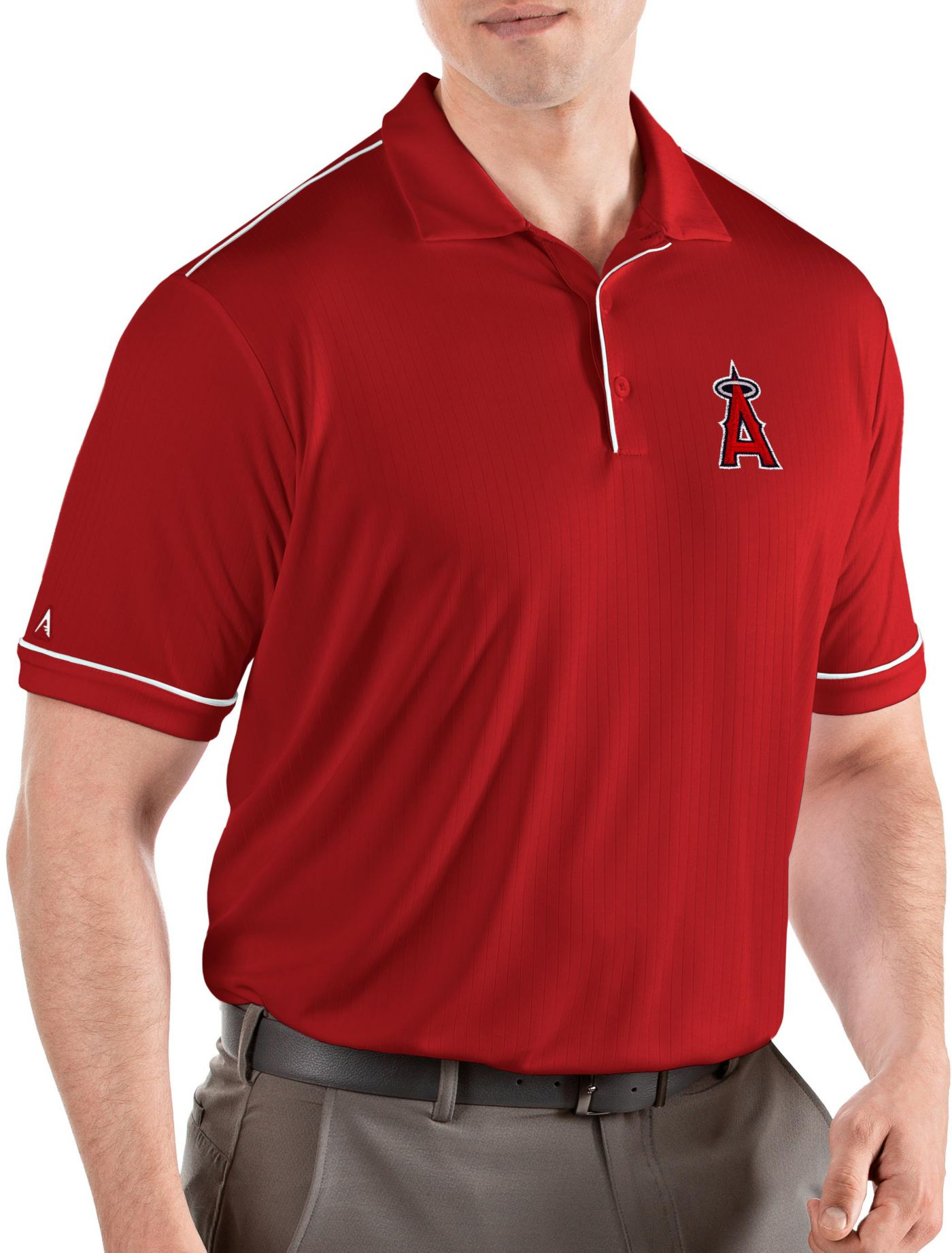 Antigua Men's Los Angeles Angels Salute Red Performance Polo
