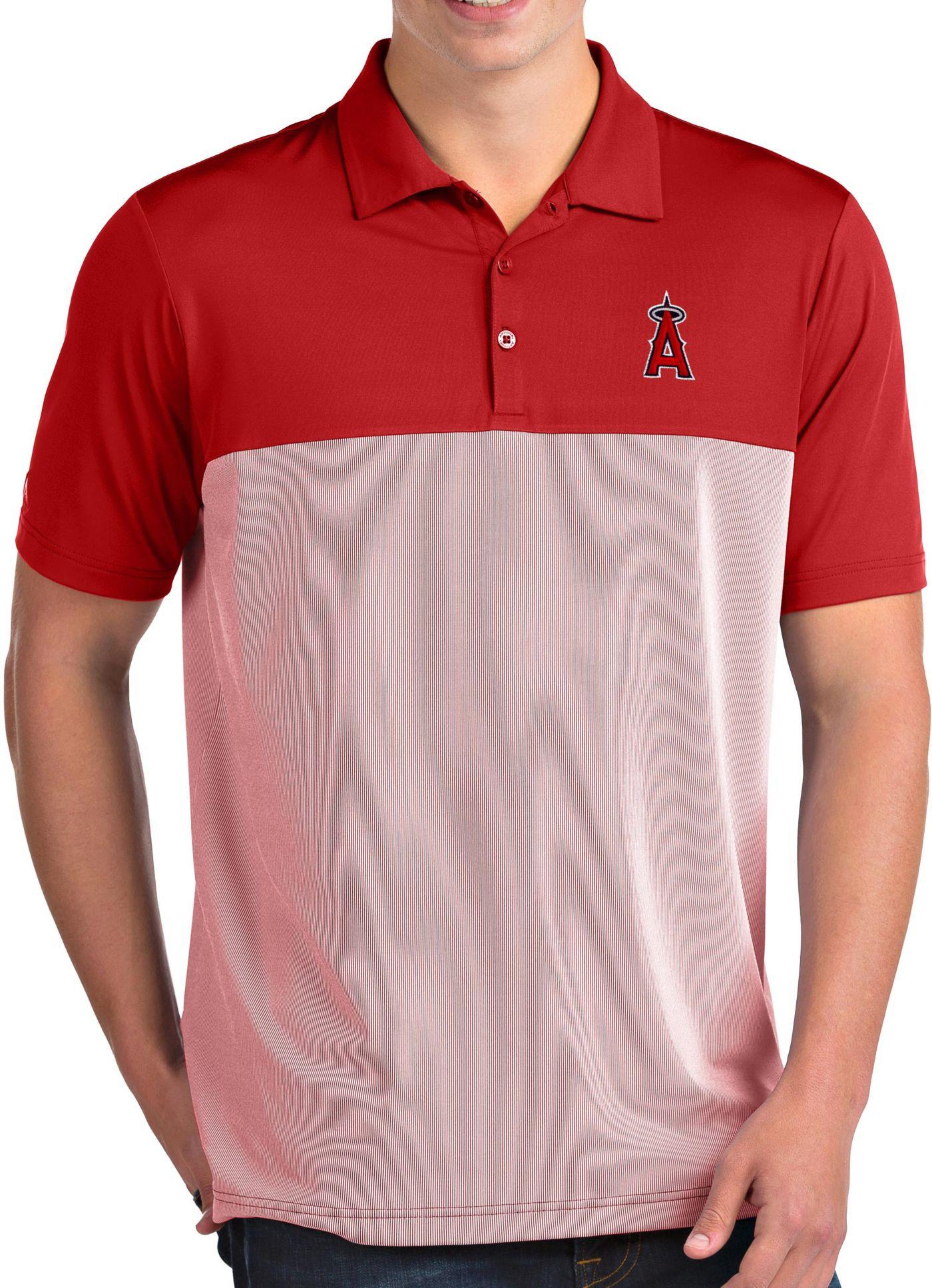 Antigua Men's Los Angeles Angels Venture Red Performance Polo