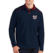 Antigua Men's Washington Nationals Navy Glacier Quarter-Zip Pullover