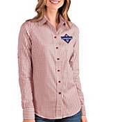 Antigua Women's 2019 World Series Champions Washington Nationals Structure Button-Up Long Sleeve Shirt
