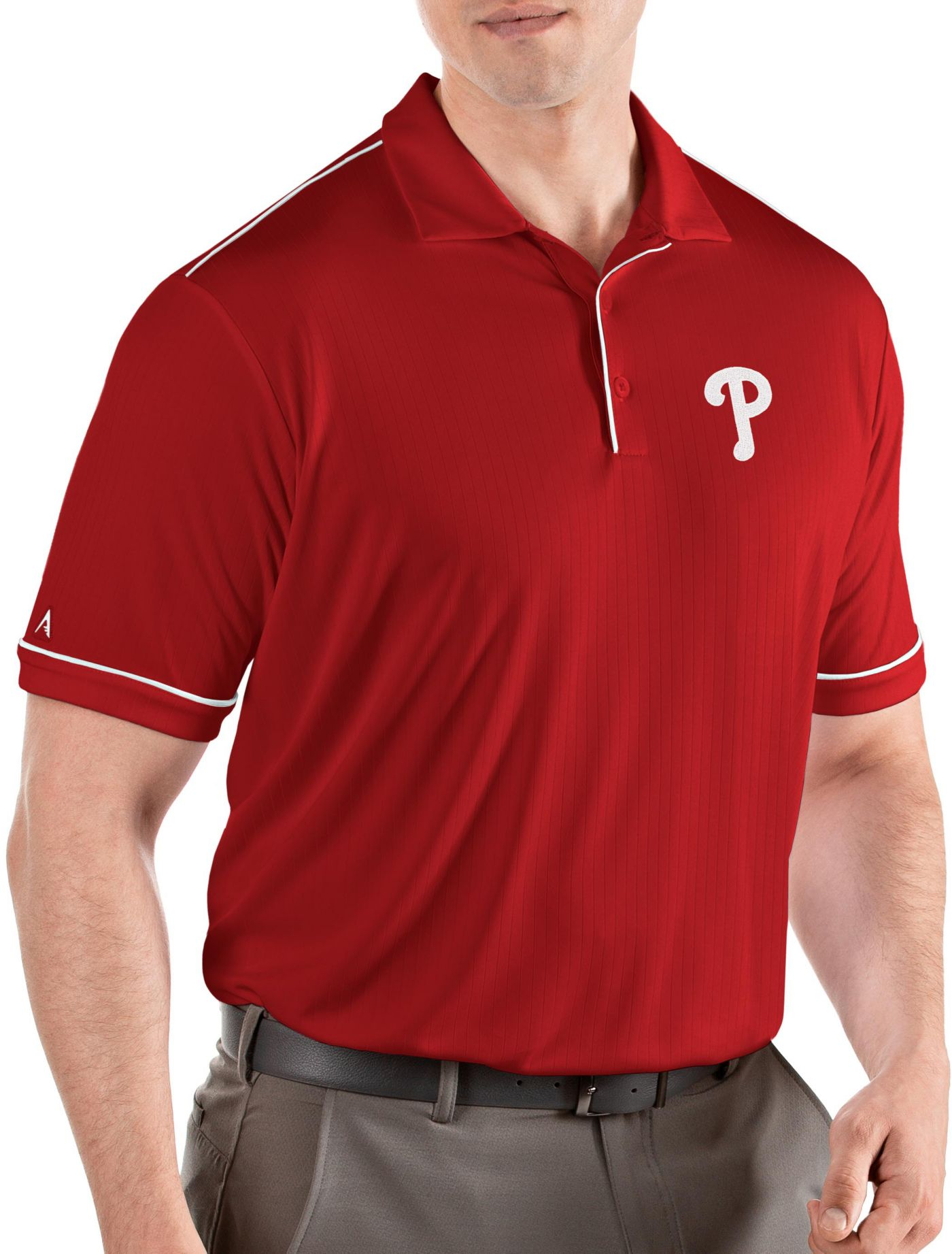 Antigua Men's Philadelphia Phillies Salute Red Performance Polo
