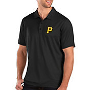 Antigua Men's Pittsburgh Pirates Black Balance Polo