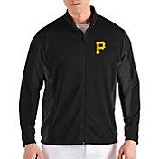 Antigua Men's Pittsburgh Pirates Black Passage Full-Zip Jacket