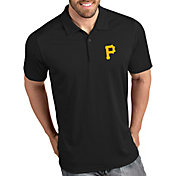 Antigua Men's Pittsburgh Pirates Tribute Black Performance  Polo