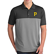 Antigua Men's Pittsburgh Pirates Venture Grey Performance Polo