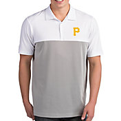 Antigua Men's Pittsburgh Pirates Venture White Performance Polo