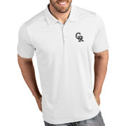 Antigua Men's Colorado Rockies Tribute White Performance  Polo