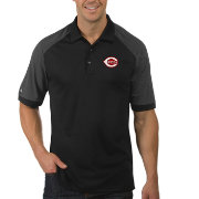 Antigua Men's Cincinnati Reds Engage Black Polo