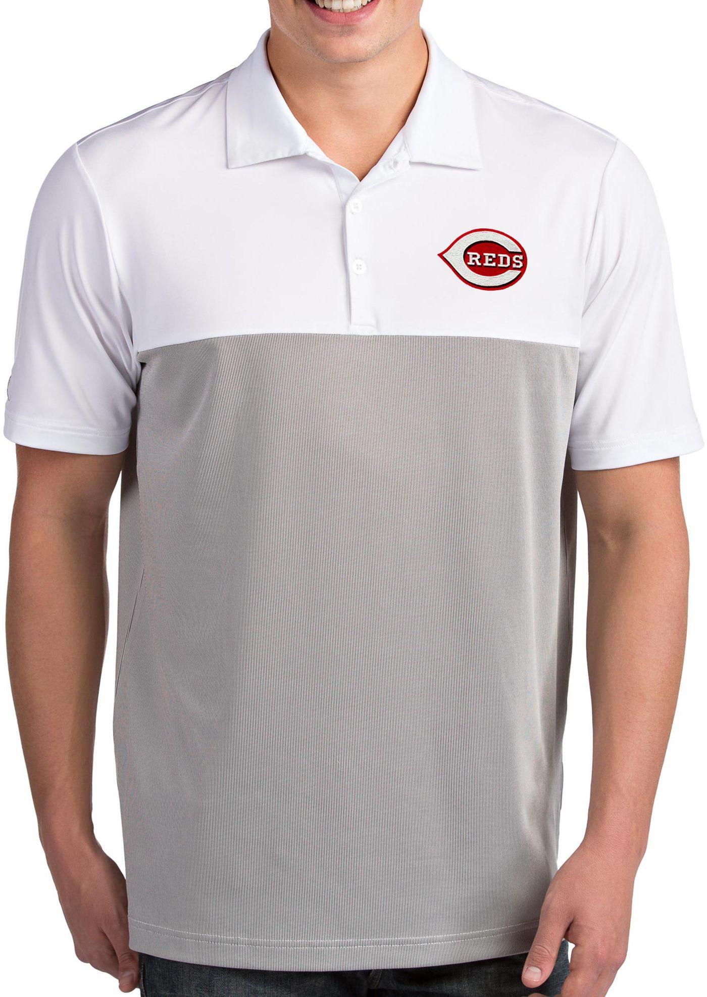 Antigua Men's Cincinnati Reds Venture White Performance Polo