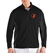 Antigua Men's Baltimore Orioles Black Passage Full-Zip Jacket