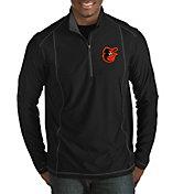 Antigua Men's Baltimore Orioles Tempo Black Quarter-Zip Pullover