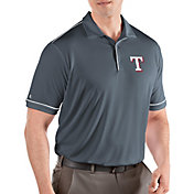 Antigua Men's Texas Rangers Salute Grey Performance Polo