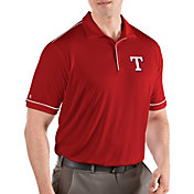 Antigua Men's Texas Rangers Salute Red Performance Polo