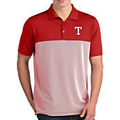 Antigua Men's Texas Rangers Venture Red Performance Polo