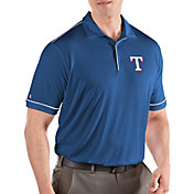 Antigua Men's Texas Rangers Salute Royal Performance Polo