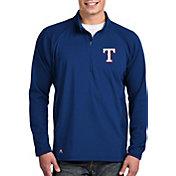 Antigua Men's Texas Rangers Royal Sonar Performance Quarter-Zip Pullover