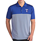 Antigua Men's Texas Rangers Venture Royal Performance Polo