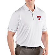 Antigua Men's Texas Rangers Salute White Performance Polo