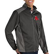 Antigua Men's Boston Red Sox Revolve Grey Full-Zip Jacket