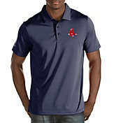 Antigua Men's Boston Red Sox Quest Navy Performance Polo