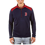 Antigua Men's Boston Red Sox Velocity Quarter-Zip Pullover