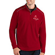 Antigua Men's Boston Red Sox Red Glacier Quarter-Zip Pullover
