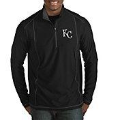 Antigua Men's Kansas City Royals Tempo Black Quarter-Zip Pullover