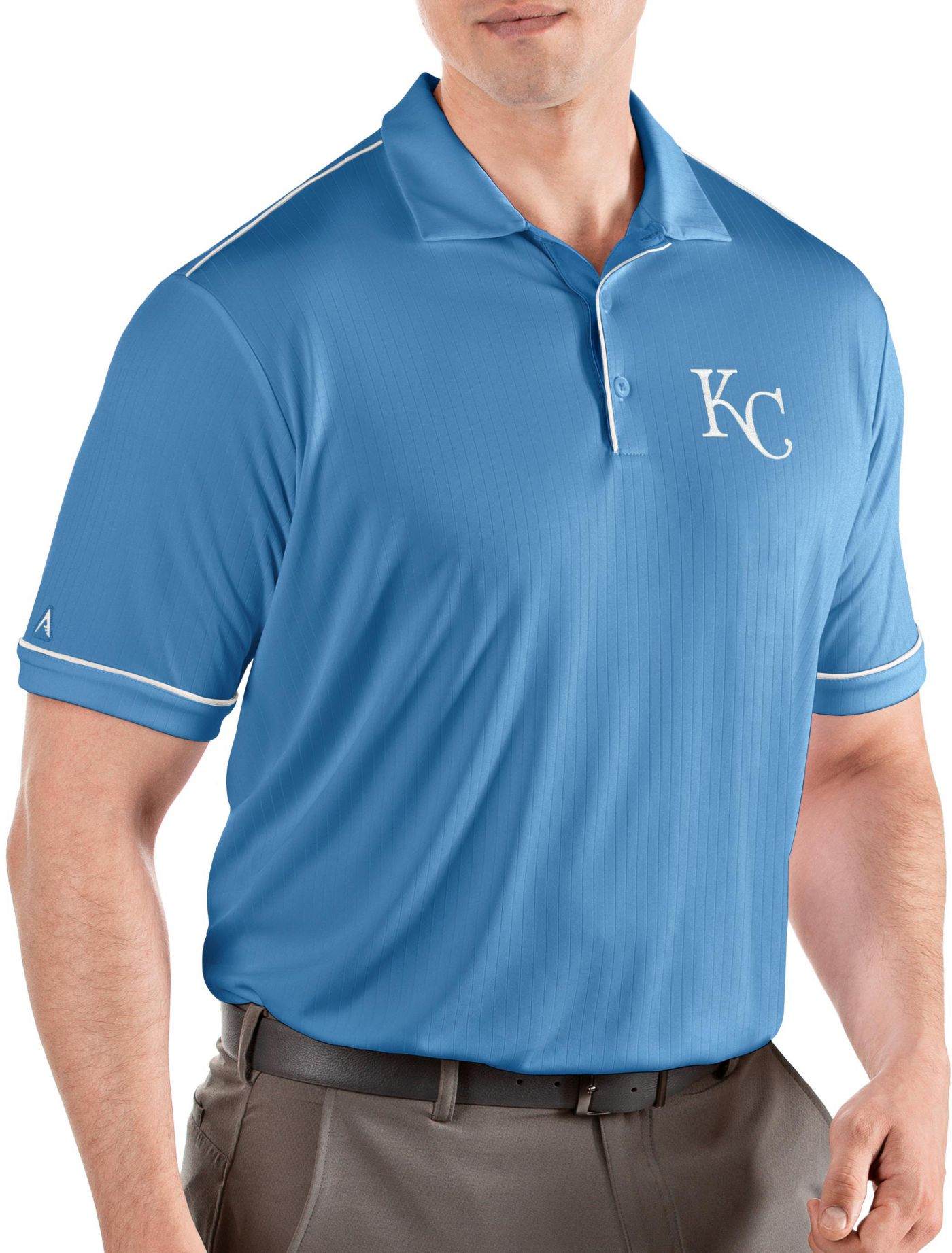 Antigua Men's Kansas City Royals Salute Light Blue Performance Polo