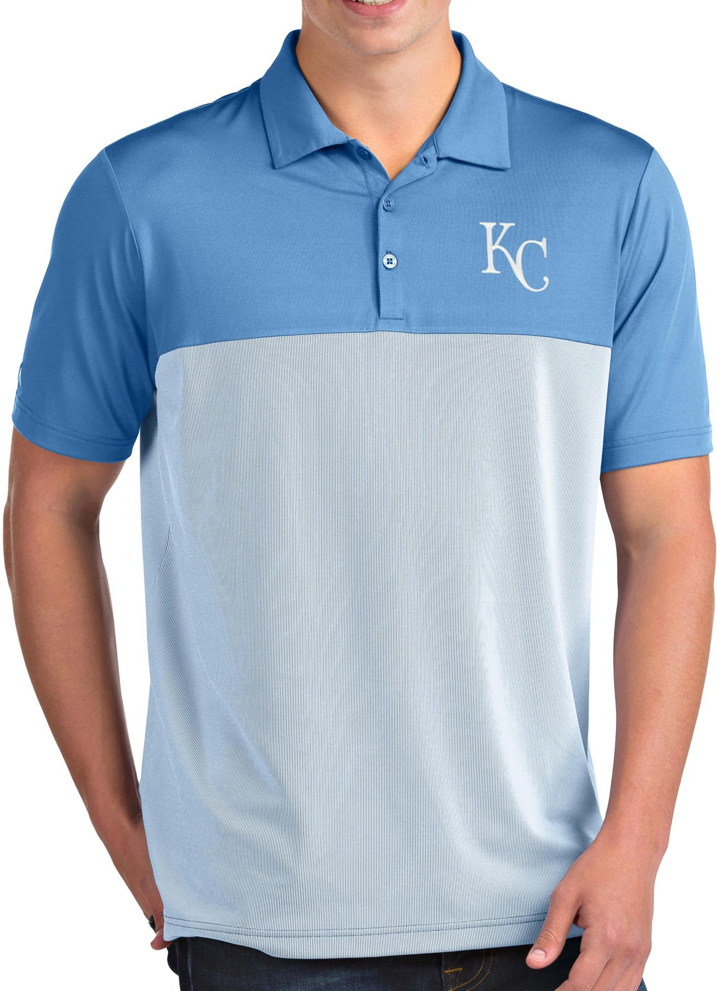 Antigua Men's Kansas City Royals Venture Light Blue Performance Polo