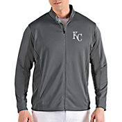 Antigua Men's Kansas City Royals Grey Passage Full-Zip Jacket