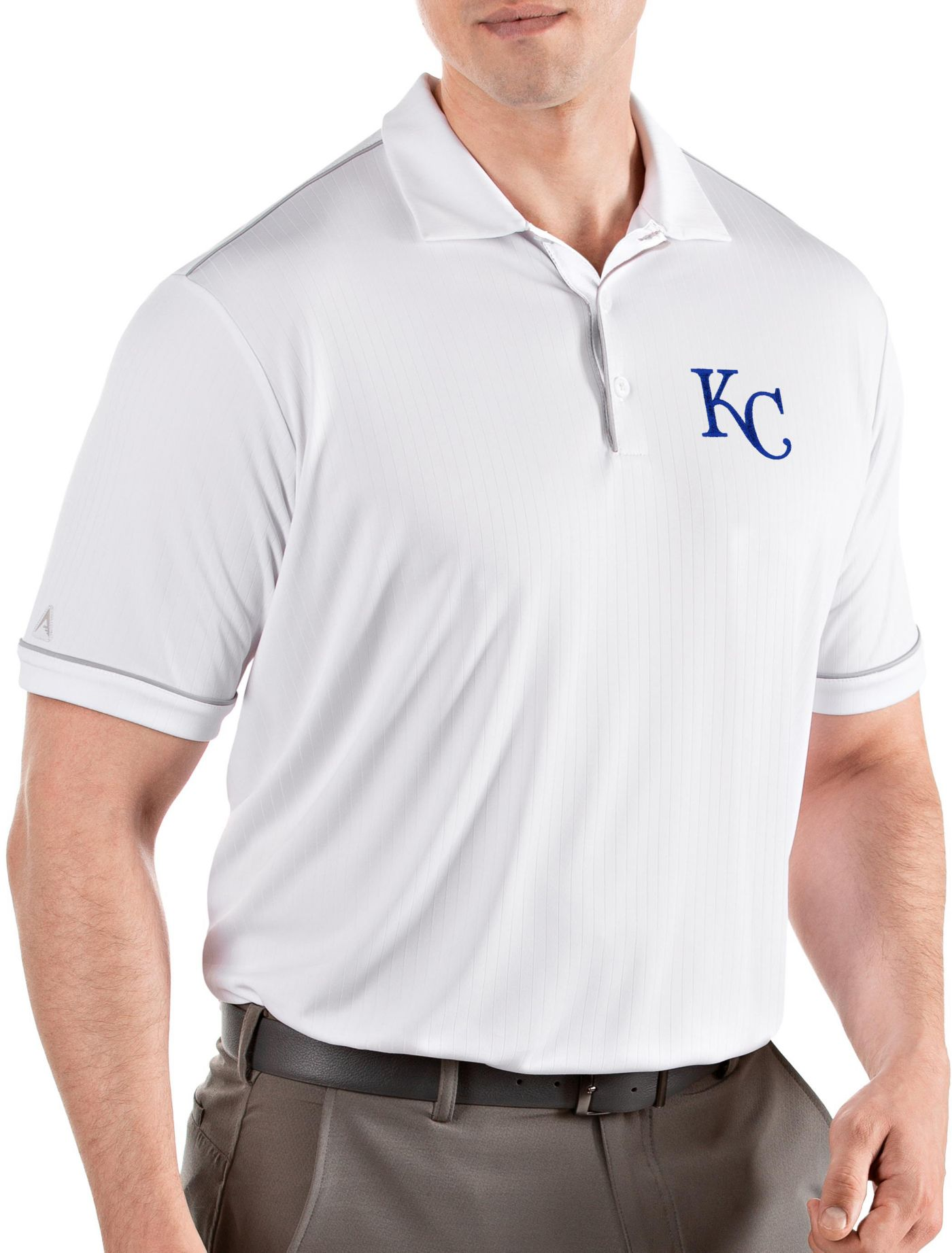 Antigua Men's Kansas City Royals Salute White Performance Polo