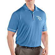 Antigua Men's Tampa Bay Rays Salute Light Blue Performance Polo