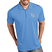 Antigua Men's Tampa Bay Rays Tribute Light Blue Performance  Polo