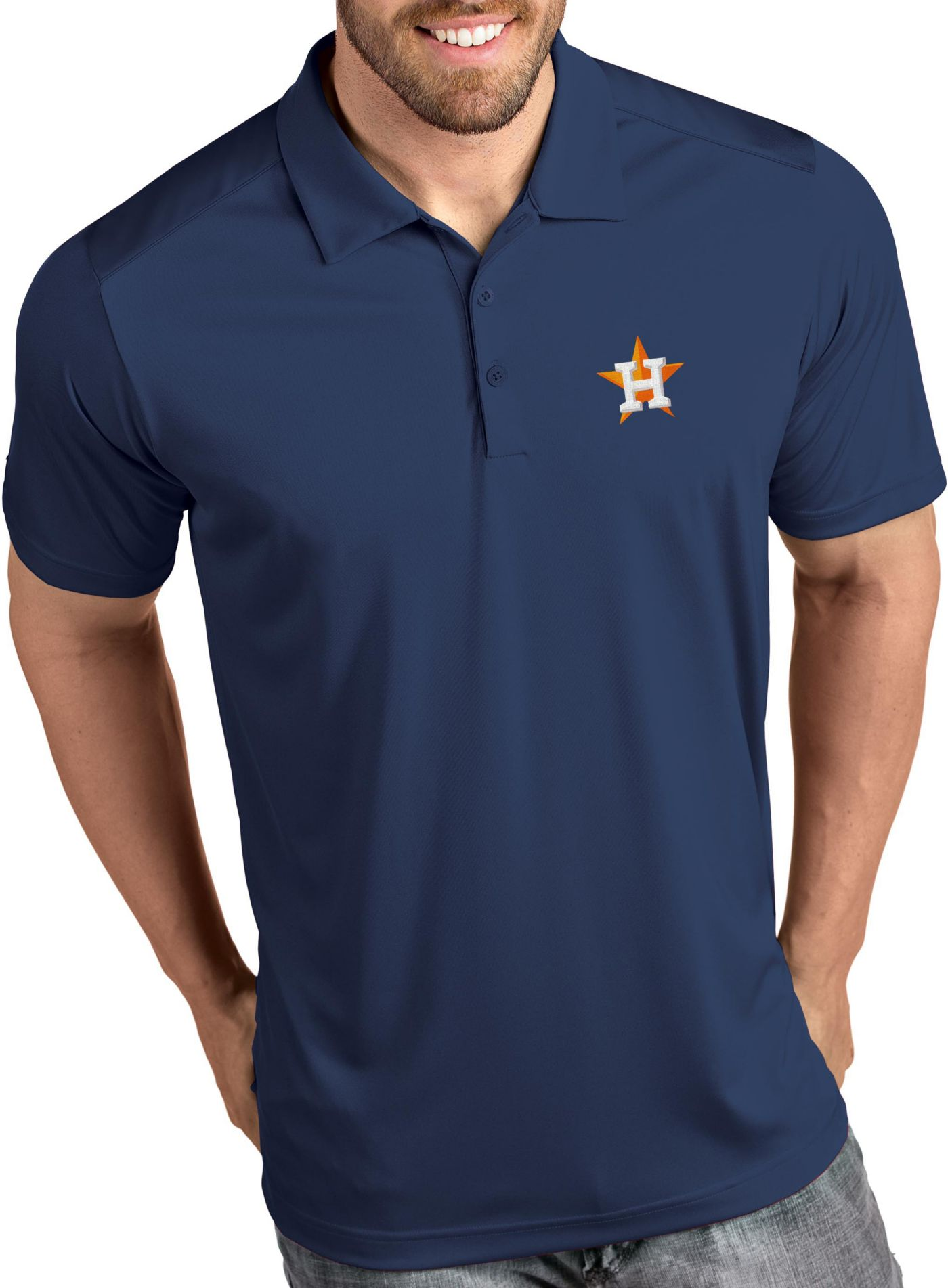 Antigua Men's Houston Astros Tribute Navy Performance  Polo
