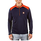 Antigua Men's Houston Astros Velocity Quarter-Zip Pullover