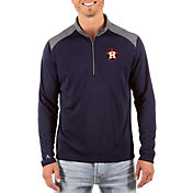 Antigua Men's Houston Astros Velocity Quarter-Zip Navy Pullover